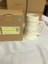 LONGABERGER IVORY BEER STEIN - NEW