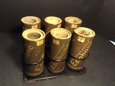 Antique Edison Cylinder Phonograph Ediphone Recording Cylinders & Boxes w/Tray