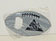 COORS Light Football Shaped Bottle Opener - Gray Football with Coors Light Logo