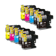 10 PK Printer Ink Set + Chip for Brother LC201 MFC-J680DW MFC-J880DW MFC-J885DW