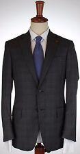 NWT ISAIA BLAZER Nuova base S jacket 130s wool grey checks handmade eu 48 us 38