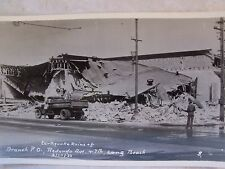 RPPC CA EARTHQUAKE BRANCH P.O. REDONDO AVE & 7TH, LONG BEACH REAL PHOTO POSTCARD
