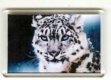 SNOW LEOPARD FRIDGE MAGNET