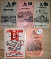 Reisebüro Wolff Leipzig   5 Kataloge Wolffs Reisen 1936 38 Österreich Italien