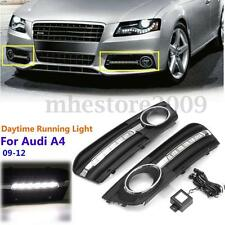 2x Phares Anti-brouillard DRL LED Lampe Grille Cover Couverture Pr Audi A4 09-12