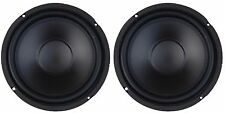 "NEW (2) 8"" Subwoofer Speakers 8ohm PAIR Home Audio eight inch bass"