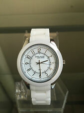 NIB ANNE KLEIN New York Luxury White Ceramic Swiss Ladies Watch SRP $250