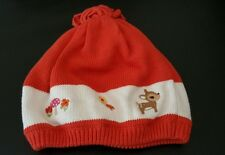 Gymboree 2 T 3 T orange  knit beret winter hat Embroidery winter warm harvest