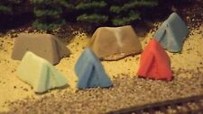 N-Scale 6 Unfinished Camp Site Tents 1:160 Model Layouts & Dioramas