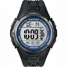 Marathon by Timex Men's Digital Full-Size Black and Blue Watch. Brand New
