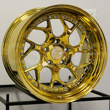 18x10.5 Aodhan DS1 DS01 5x114.3 15 Gold Vacuum Wheel New set(4)