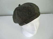 NEW MONSOON ACCESSORIZE LADIES GREY GOLD SOFT KNITTED RETRO BERET BOHO HAT