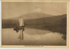 ANTIQUE MOUNT MOUNTAIN  FUJIYAMA KASHIWABARA JAPANESE JAPAN SAIL BOAT ART PRINT