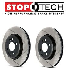 NEW Audi S4 S5 2008-2011 Pair Set of Front StopTech Slotted Brake Rotors