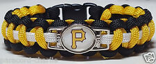 Pittsburgh Pirates Black, Gold & White Paracord Bracelet OR Lanyard OR Key Chain