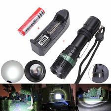 Tractical 5000 Lumen Zoom CREE XM-L T6 LED Flashlight + 18650 Battery + Charger