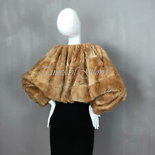 LANVIN Musquash FUR Cashmere Evening Cocktail Shrug Jacket Short Size FR36 38 S
