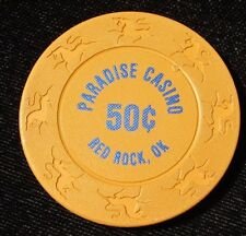 .50 cent Paradise Casino Chip Red Rock Oklahoma Retired Logo