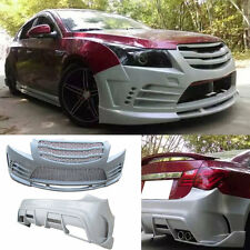 ABS Plastic Front+Rear Bumper Bodykit Snap Type For Chevrolet Cruze 2011-2014