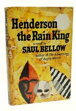 Henderson the Rain King First Edition Saul Bellow 1st Printing 1959 Nobel Prize