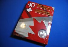 2005 Brilliant Uncirculated Silver Dollar - 40th Anniv. of Canadian Flag CD Rom