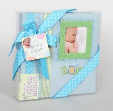 Baby Memories Fotoalbum in Blau für 160 Fotos in 10x15 cm Kinder Fotobuch