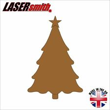 Pack of 2, Large MDF 200mm Christmas Tree Shape ideal for all craft & decoration