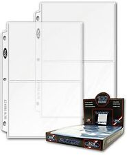 """-- 100 5"""" x 7"""" 2 Pocket PRO Postcard Photo Album Refill Pages with Ultra Storage"""