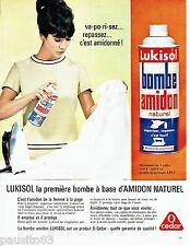 PUBLICITE ADVERTISING 126  1964  O Cedar  amidon en bombe  Lukisol en bombe