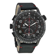 Victorinox Swiss Army Airboss Mechanical Chronograph Black Dial Black Nylon