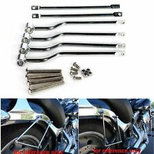 Saddle Bag Support Mount Bar Brackets for Harley Softail Sportster Touring Dyna