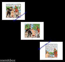 3 Ex-libris TINTIN et Le SCEPTRE d'OTTOKAR affiche Hergé offset triptyque poster