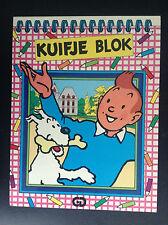 Kuifje Bloc carnet de note Tintin Jesco  ETAT NEUF Hergé Tim Kuifje