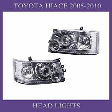 TOYOTA Hiace Van 2005-2010 Crystal Lens White Angel-eye LED Headlights lamps