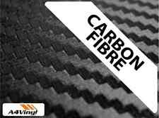 A4 Black Carbon Fibre Vinyl Sheet Wrap Waterproof Automotive Wrapping Gr.10 yr