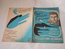"""SPARTITO MUSICALE DEL 1952""""AGGIO PERDUTO O SUONNO..."""" CANZONE BEGUINE-TEDDY RENO"""