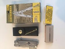 leatherman crunch NEW in old box never used black leather sheath