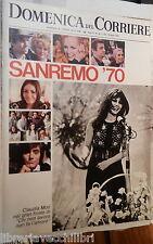 LA DOMENICA DEL CORRIERE 10 marzo 1970 Festival di Sanremo Hugh Hefner Mauri di