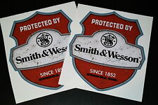 PROTECTED BY SMITH & WESSON XXL 2 STÜCK Aufkleber Sticker Groß Set Decal Big 12