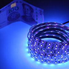 1m 3528 60 led 395-405nm UV LED Strip Black tape lamp non waterproof string 12v