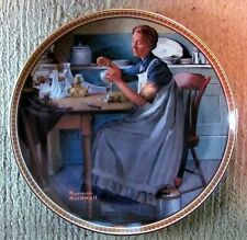 """Norman Rockwell - Rediscovered Women Plate #9 - """"Working In The Kitchen"""" (2653)"""
