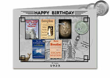 94th cartolina di Compleanno Souvenir del 1923 argento MEZZA CORONA Gift Set (2017)