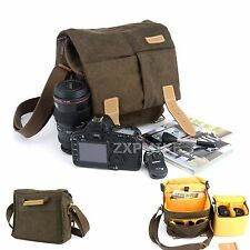 Canvas Shoulder Messenger Camera Bag  For Canon EOS D760 D750 5DS 5DSR