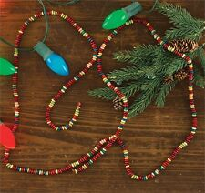 Candy Color 6' Wood Bead Christmas Garland