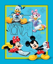 "1 Springs Disney Mickey and Friends ""Game Over""  Fabric Panel"
