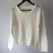 Lizmelo by LIZ LISA x My Melody Sweater Knit Top Kawaii cable stich White