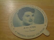 "1952 Jean Peters DIXIE LIDS NELSON ICE CREAM NM Condition ""Viva Zapatal"""