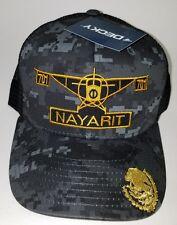 EL AVION DEL CHAPO NAYARIT   MEXICO  701 HAT 2 LOGOS DIGITAL HAT GRAY BLACK