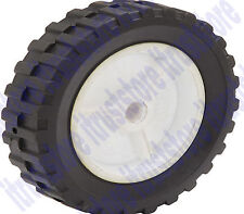 "6"" INCH SEMI SOLID HARD RUBBER FLAT FREE REPLACEMENT TIRE WHEEL RIM MOWER CART"