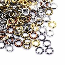 A Pack of 1000 Assorted Plated 6mm Jump Rings. 0.7mm thick.  J1502